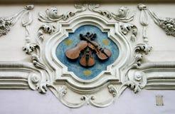 三把小提琴 库存图片