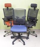 三把扶手椅子 免版税库存照片
