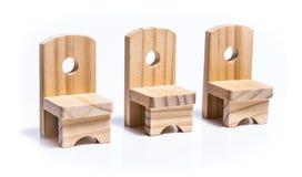 三把椅子玩具家具 图库摄影