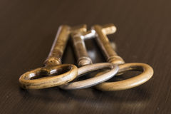 三把钥匙 免版税库存图片