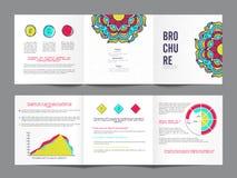 三折叠,创造性的企业小册子集合 皇族释放例证