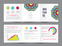 三折叠,创造性的企业小册子集合 库存例证