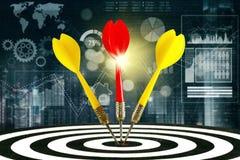 三支箭和财政图表 免版税库存图片
