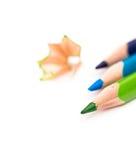 三支色的铅笔 图库摄影