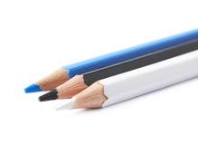 三支被隔绝的画的铅笔构成 免版税图库摄影