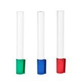 三支轮廓色_记号笔,隔绝在白色 图库摄影