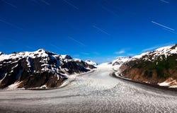 三文鱼冰川和星形线索 免版税库存图片