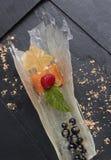 三文鱼可口开胃菜  图库摄影