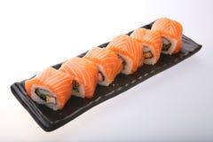 三文鱼寿司卷 库存照片