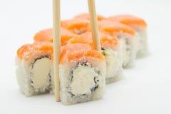 三文鱼寿司卷 库存图片