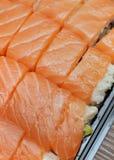 三文鱼寿司牌照 库存图片
