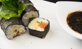 三文鱼寿司maki 库存图片