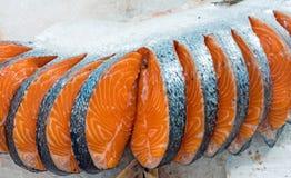 三文鱼新鲜的内圆角  库存照片