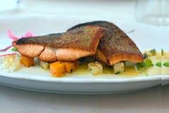 三文鱼晚餐 库存照片