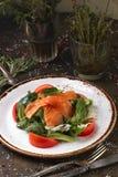 三文鱼沙拉用鲕梨 库存图片