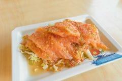 三文鱼混合用泰国海鲜的香料 免版税库存图片