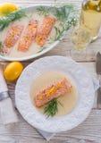 三文鱼烤用莳萝 图库摄影