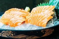 三文鱼生鱼片 库存照片