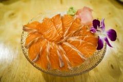 三文鱼生鱼片 免版税库存图片