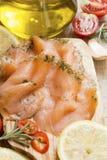 三文鱼用香料 免版税库存照片