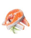 从三文鱼的二利益 免版税图库摄影