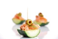 三文鱼的开胃菜 库存图片