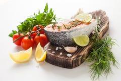 三文鱼的牛排 免版税库存照片
