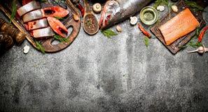 三文鱼食物 库存照片