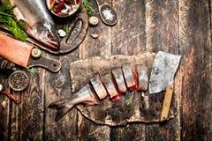 三文鱼食物 免版税库存照片