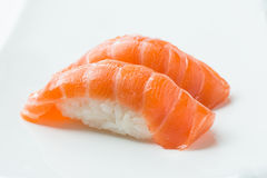 三文鱼Nigiri寿司 图库摄影