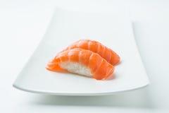 三文鱼Nigiri寿司 免版税库存图片