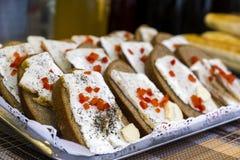 三明治用猪油和胡椒 免版税库存照片