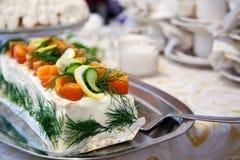 三明治蛋糕 免版税库存照片