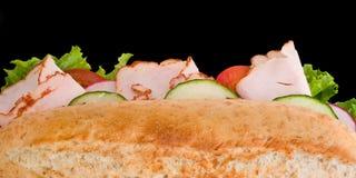 三明治顶部火鸡查阅 免版税库存照片