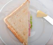 三明治和黄油 免版税库存照片
