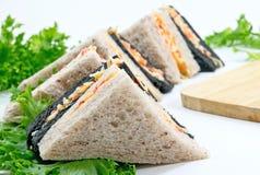 三明治和vegatable食物早餐 免版税库存图片