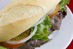 三明治牛肉 免版税图库摄影