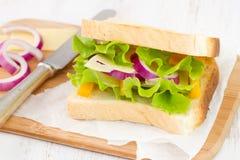 三明治用乳酪 图库摄影