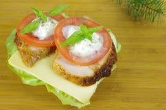 三明治用肉 库存照片