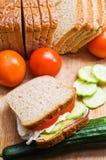 三明治、菜和面包 库存照片