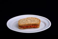 三明治用酸辣调味品, ajvar 免版税库存图片
