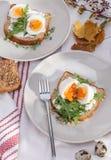 三明治用鸡蛋 免版税库存图片