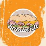 三明治的向量例证 免版税库存照片
