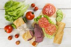 三明治的成份 库存图片
