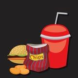 三明治集合文本没有使用的艺术品泡影狗编辑可能的快餐梯度汉堡包热层 库存图片