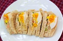 三明治鸡蛋。 免版税库存照片