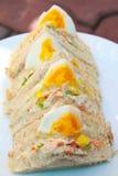 三明治鸡蛋。 库存照片