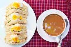 三明治鸡蛋。 免版税库存图片