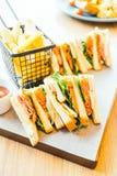 三明治鸡 库存图片