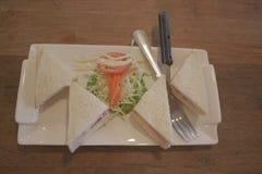 三明治,健康菜 免版税库存照片